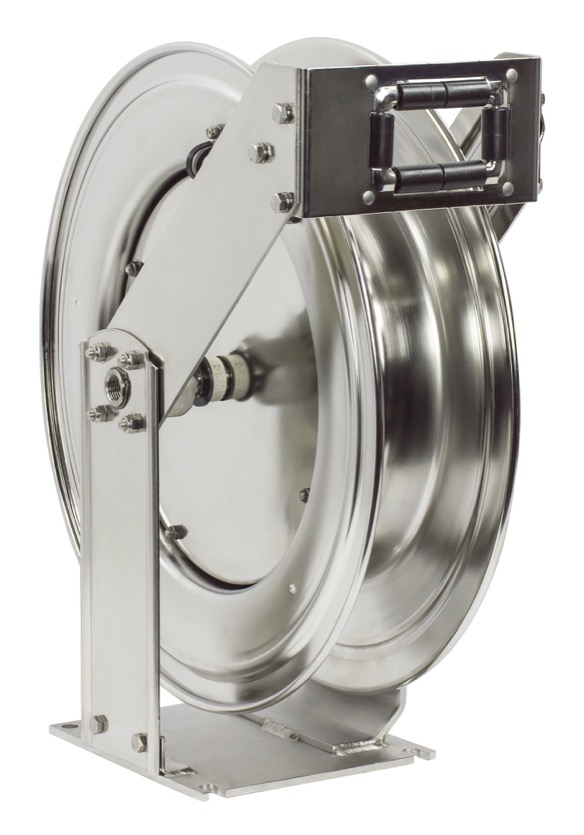 "COXREELS TSHL-N-3100-SS Stainless Steel Spring Driven Hose Reel 3 8"" x 100ft by Hose Reels"