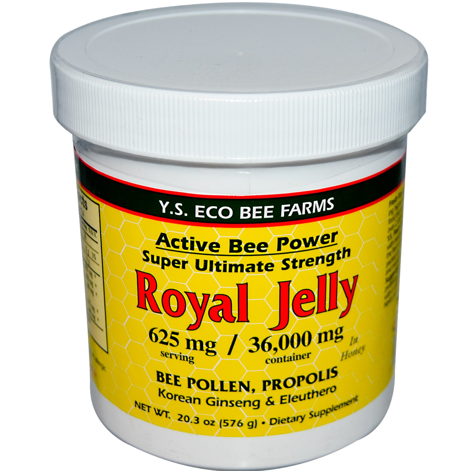 Y.S. Eco Bee Farms, Royal Jelly, 20.3 oz(pack of 6)