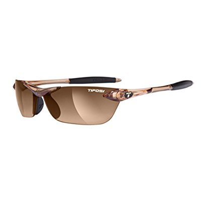 Tifosi Dolomite 2.0 Lenses - Tifosi Womens Seek 0180404779 Wrap Sunglasses,Crystal Brown Frame/Brown Gradient Lens,One Size