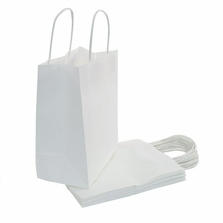White Paper Gift Bag, (10x8x4.75in), 50ct