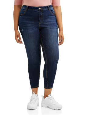 e83da5e6e1 Product Image Juniors  Plus Size High Waisted Skinny Crop Jeans. Product  Variants Selector. Dark Wash
