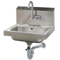 ADVANCE TABCO 7-PS-50 Hand Sink,Wall,17-1/4 In. L,15-1/4 In. W