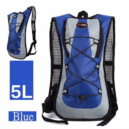 5L Outdoor Cycling Backpack Survival Hydration Pack 2L Liter Straw Water Bladder Bag Large Storage Backpack for Hiking, Climb,