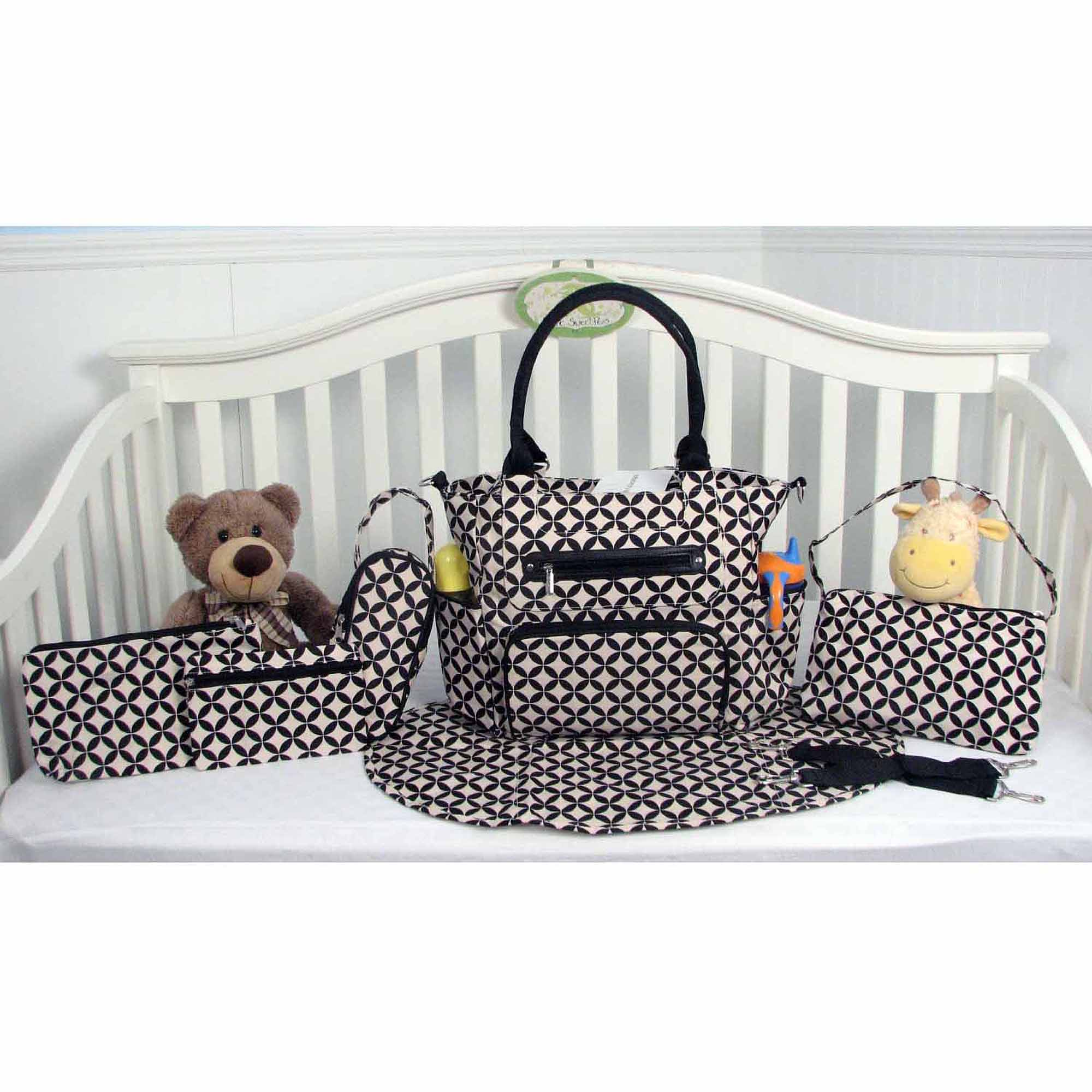 SOHO Grand Central 6-Piece Diaper Bag Set