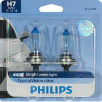 Philips Crystalvision Ultra Headlight H7, Px26D, Glass, Always Change In Pairs!