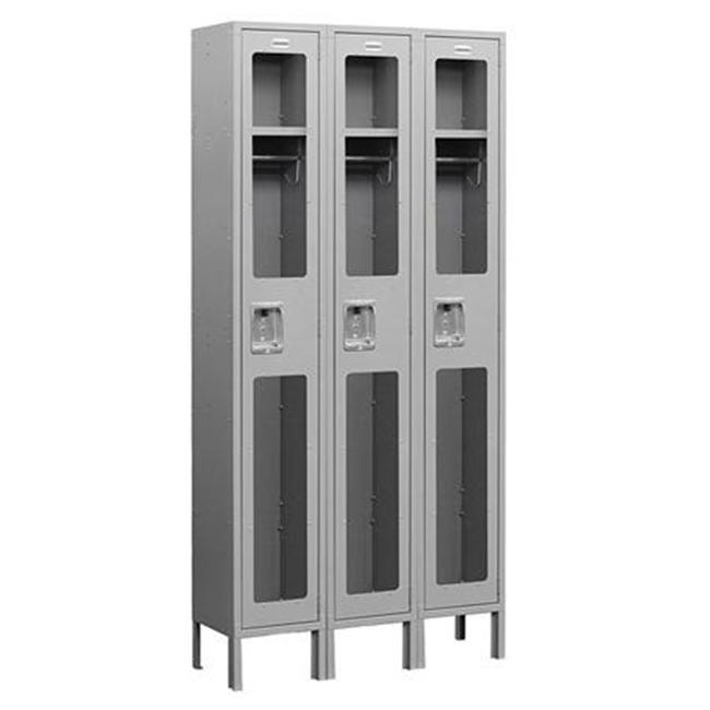 Salsbury Industries See-Through Metal Locker - Single Tier - 3 Wide - Assembled