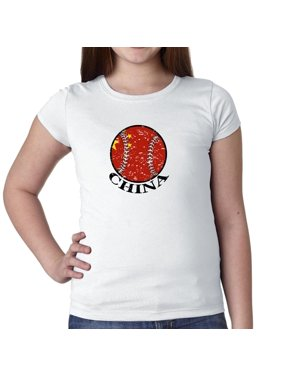 2b6604e6bf6 Product Image China Baseball Classic - World Vintage with Flag Girl's  Cotton Youth T-Shirt