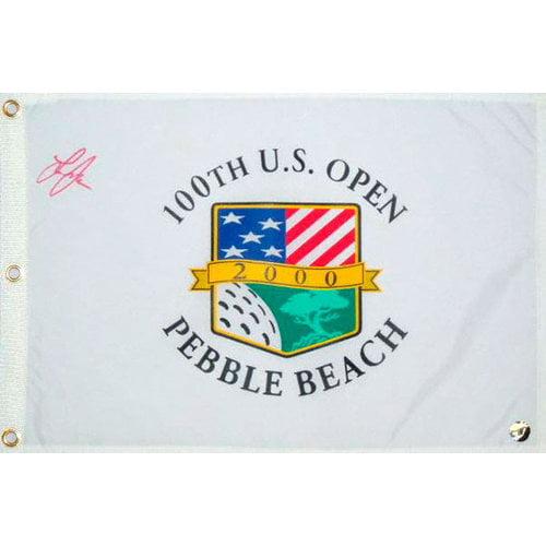 Lee Janzen Autographed 2000 Pebble Beach US Open Flag