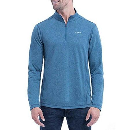 Men's Sandy Point ¼ Zip Pullover (L, Blue) By Orvis