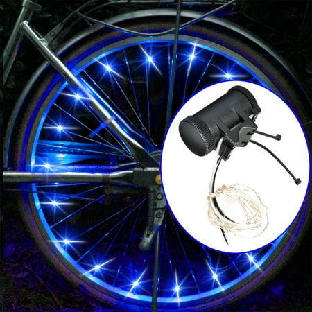 Image Bike Spoke Wheel Lights Brightz Bicycle LED Tire Rim Safety Lights Battery Powered Blue