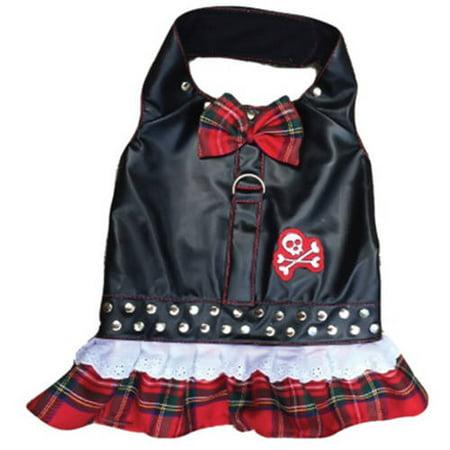 Harness Dress, Biker Red Plaid, XXS