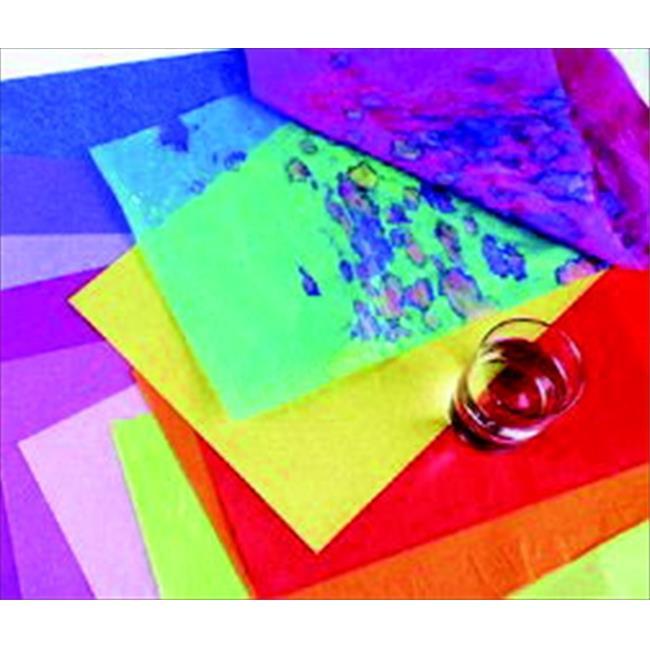 Spectra 006222 Deluxe Bleeding Recyclable Art Tissue Paper, Orange - 24 Sheets