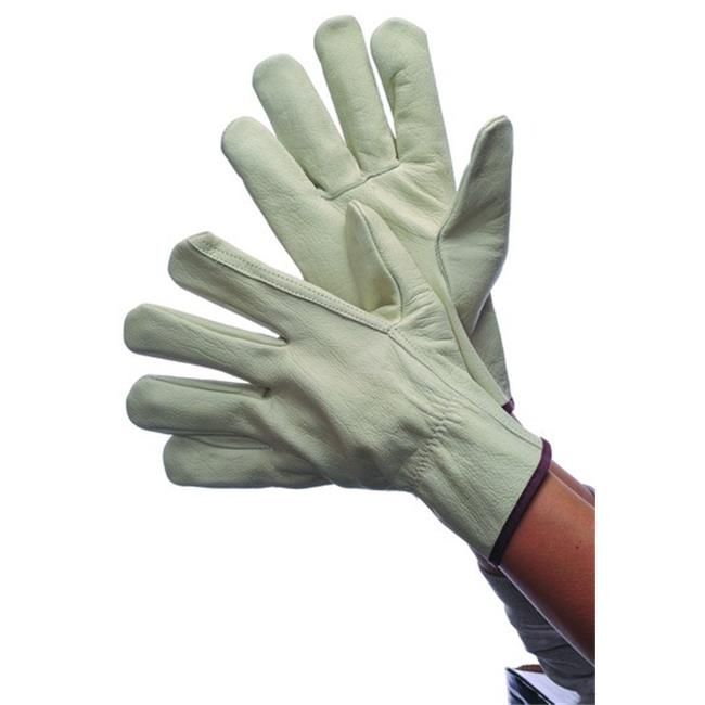 DDI 1818284 Leather Driver Gloves Cowhide, Large