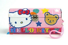 Hello Kitty Carry All Tin Clutch Purse with String Bear by