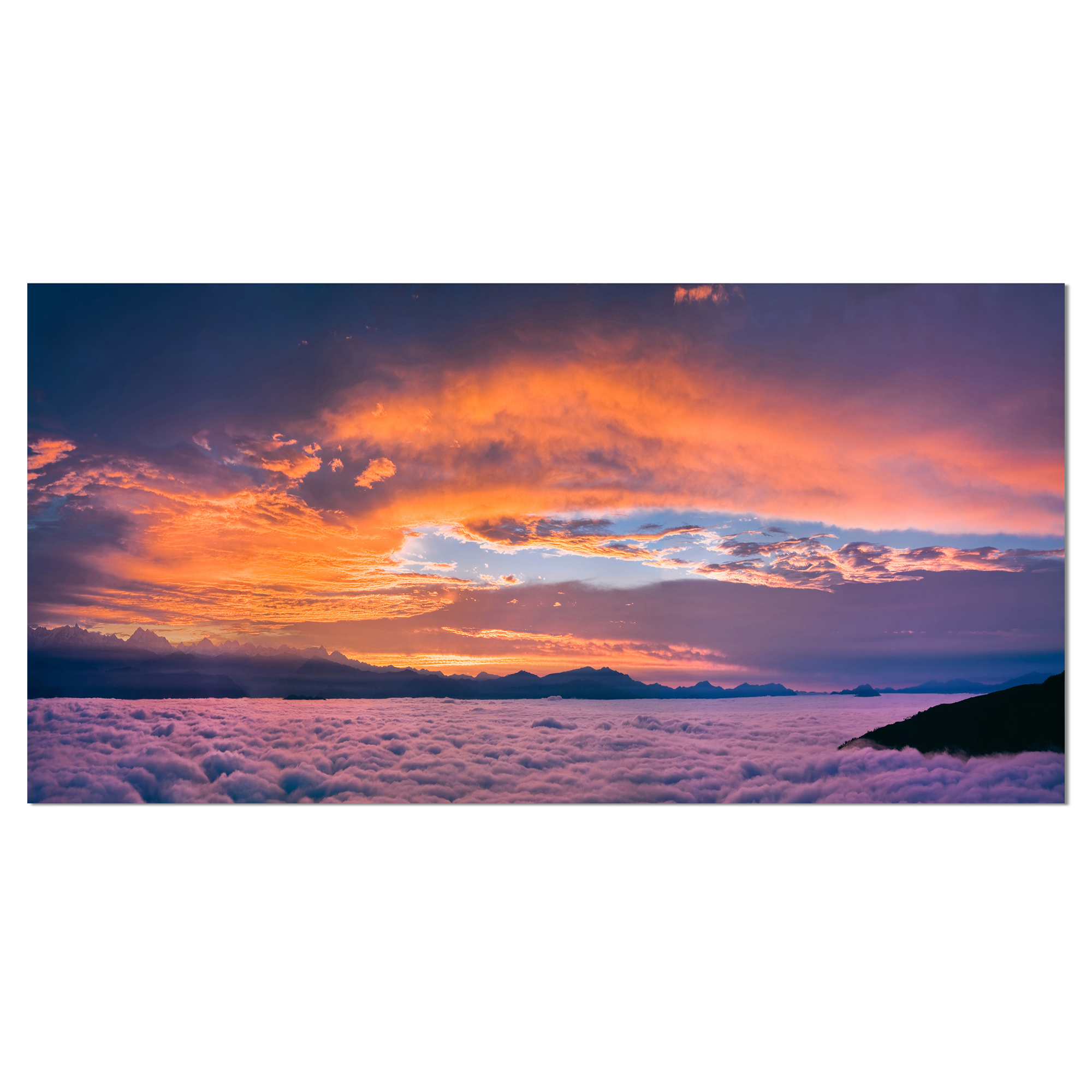 Night Sky Beautiful Landscape Large Wall Art Poster Print