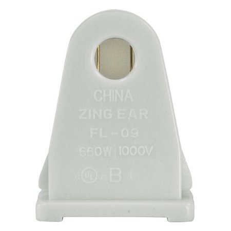 Single Pin Socket - Stationary Socket for Single Pin for T12 Fluorescent Lamps - 80-1497, Brand: Satco By Satco