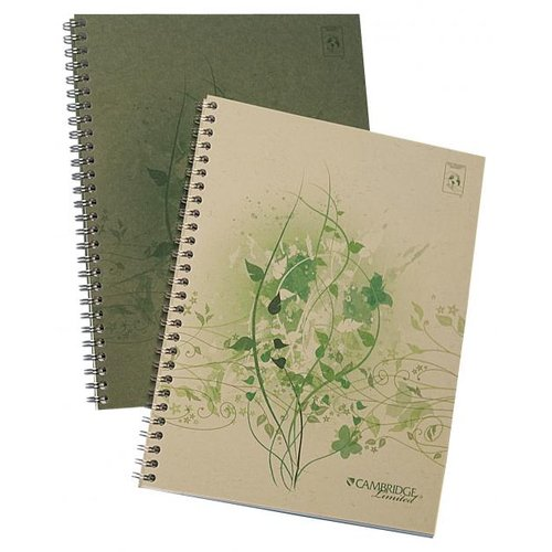 Cambridge Limited Notebook Recycled Cover with Intricate Designs