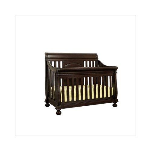 Bundle-35 Creations Baby Summer's Evening Sleigh Crib in Espresso (2 Pieces)