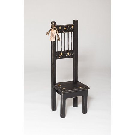 Furniture Barn USA™ Primitive Rustic Country Style Small High Back Chair ()