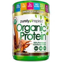 Purely Inspired Organic Plant Protein Powder, Chocolate, 20g Protein, 1.5lb, 24.0oz