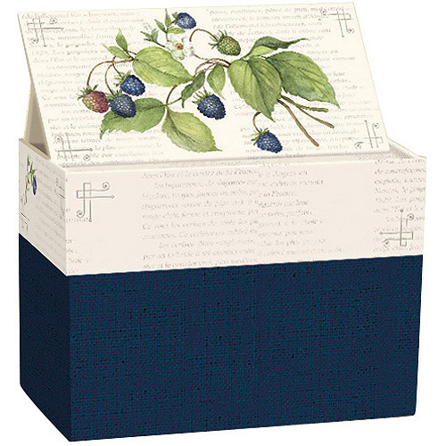 Lang Recipe Card Box With Recipe Cards,