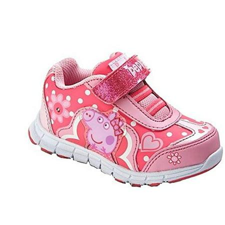 Peppa Pig Light Up Sneaker Toddler Girls Shoe Pink 6 ()