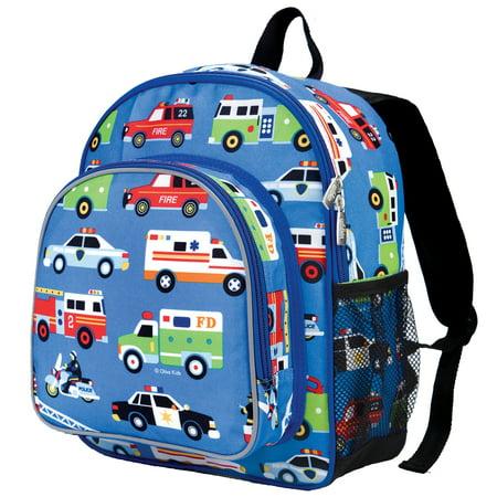 """Wildkin 12"""" Olive Heroes Pack n Snack Kids' Backpack - Blue Heroes"""