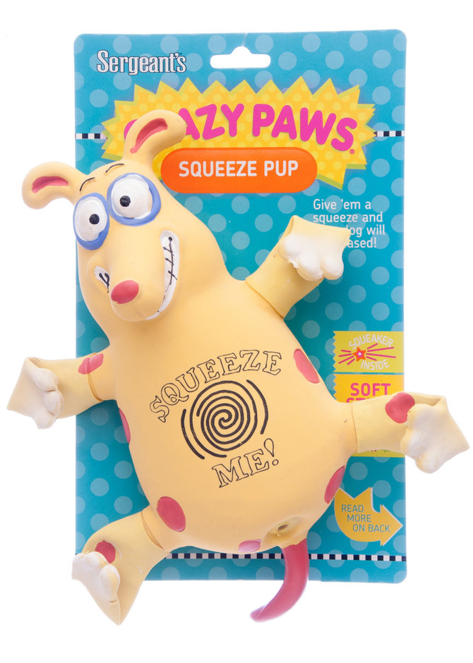 Crazy Paws  Latex Dog Toy Sergeant/'s