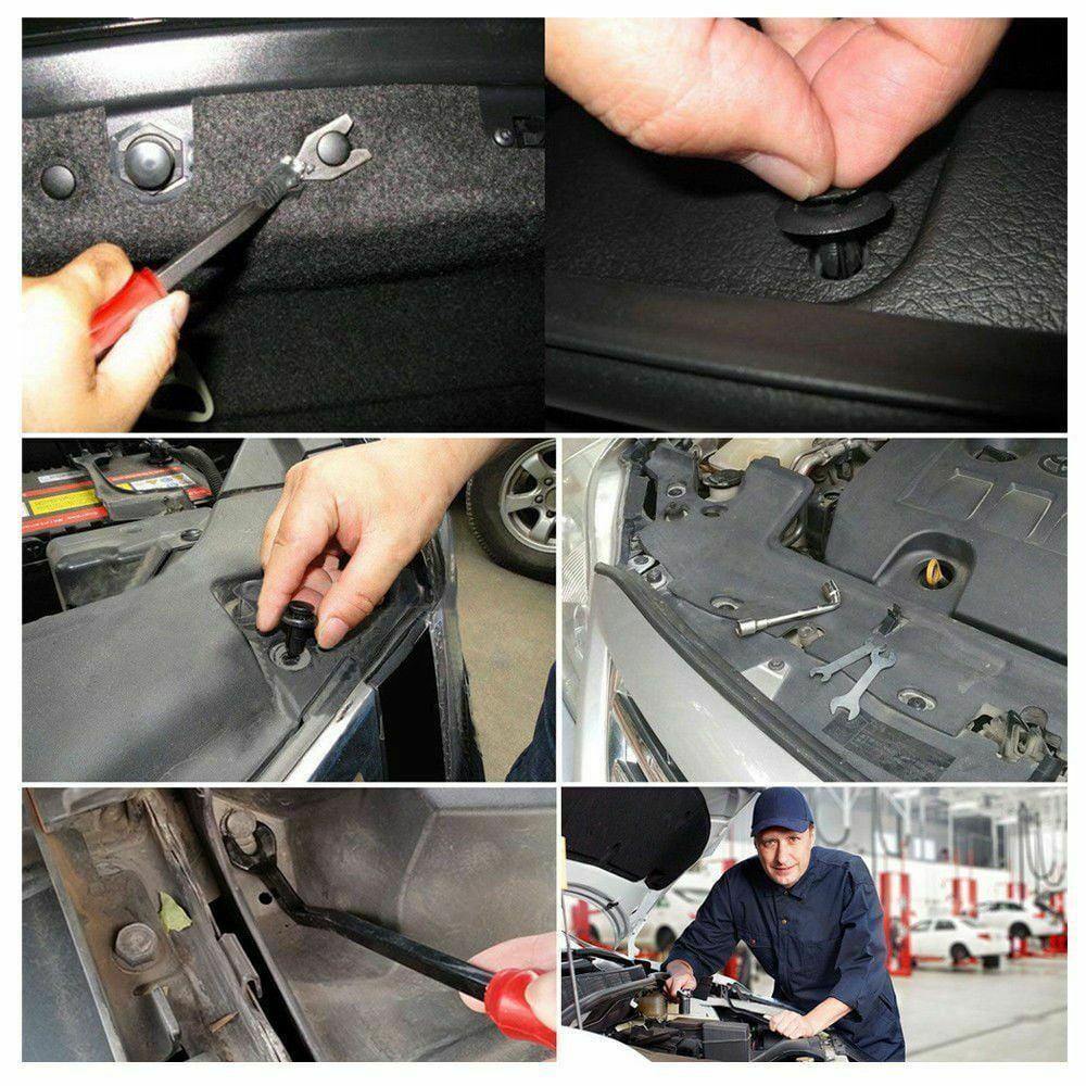 250 Clip Fits For Nissan Hood Door Fender Bumper Retainer Car Body Fastener Tool
