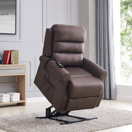 Linder Power Recliner and Lift Chair in Chocolate -