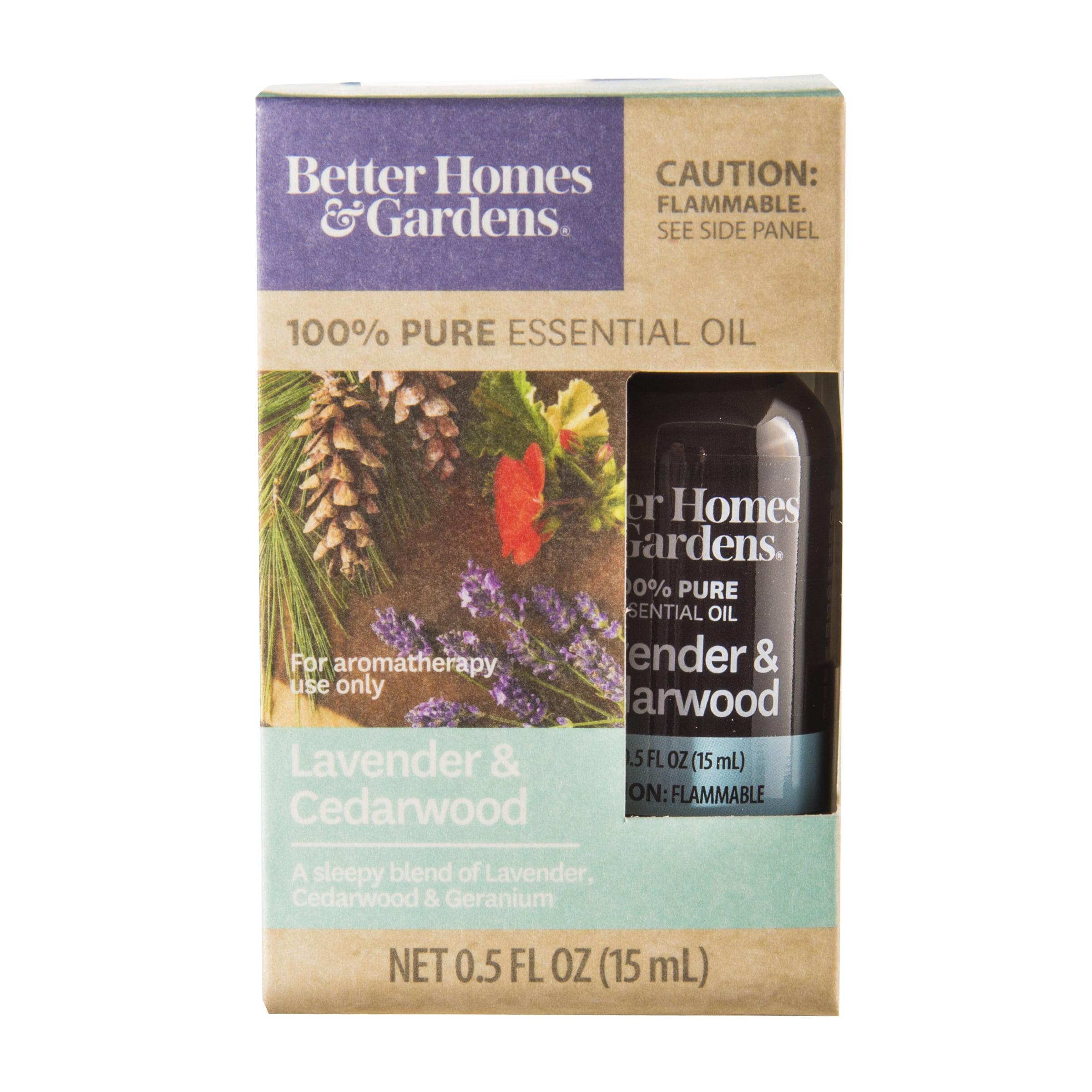 Better Homes Gardens 15 Ml 100 Pure Lavender Cedarwood Essential Oil Blend Walmart Com Walmart Com
