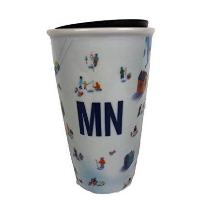 Starbucks Double Wall Ceramic Travel Tumbler Mug Minnesota MN 12 Oz