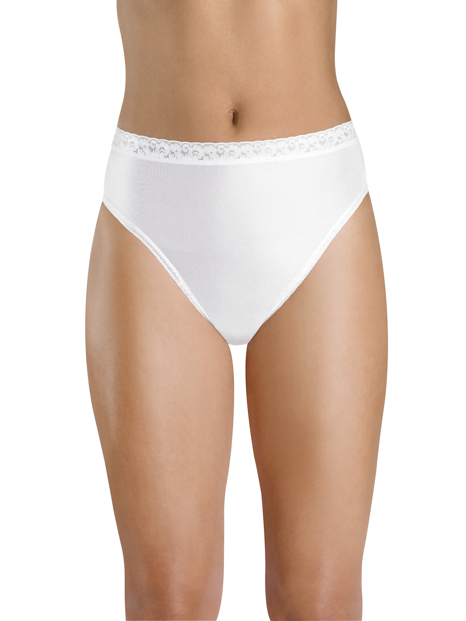 174401cce44e Women's Nylon Hi-Cut Panties - 6 Pack - Walmart.com
