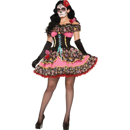 Day of the Dead Senorita Adult Halloween Costume for $<!---->