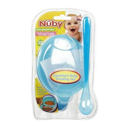 Easy Grip Feeding Set - Nuby Comfort Grip Feeding Set