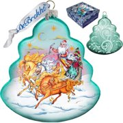 GDeBrekht 762-018 Troika Tree Glass Ornament