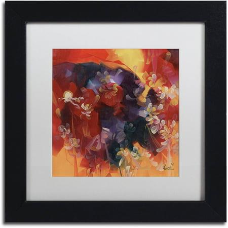Trademark Fine Art Hot Nights Canvas Art By Masters Fine Art White Matte Black Frame