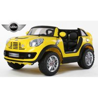Limited Editiom 2 Seats Convertible Cooper 12v Ride on Car, Toy for Kids with Remote Control, Music, Lights, Leather Seat