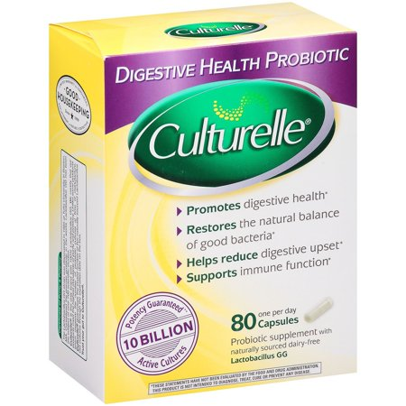 Culturelle? Digestive Health Probiotic Capsules, 80 Ct Culturelle Probiotic Dietary Supplement Capsules