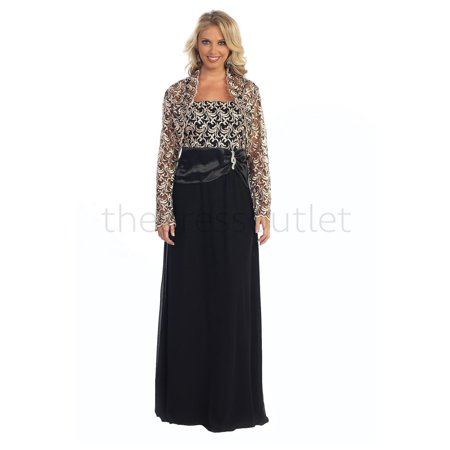 The Dress Outlet - Long Mother of the Bride Dress Plus Size ...