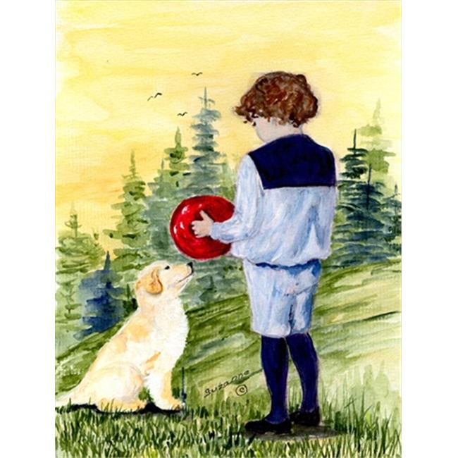 Carolines Treasures SS8530GF Little Boy with his Golden Retriever Flag - Garden Size, 11 x 15 in. - image 1 de 1