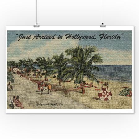 Hollywood Wall Decor (Hollywood Beach, Florida - View of Beach (9x12 Art Print, Wall Decor Travel)