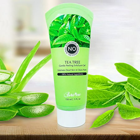 Facial Exfoliating Peel Gel with Natural Aqua, Tea Tree (150 ml) - Effectively but Gently Removes Dead Skin For All Skin Types (No scrub)- Revealing a Clear, Soft Skin with Healthy