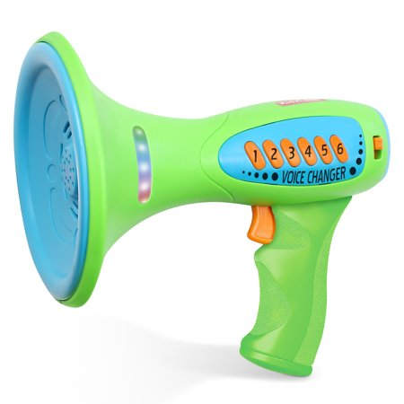Voice Changer for Kids with Megaphone Function, LED Lights and 5 Different Sound Effects … Voice Changer Helmet