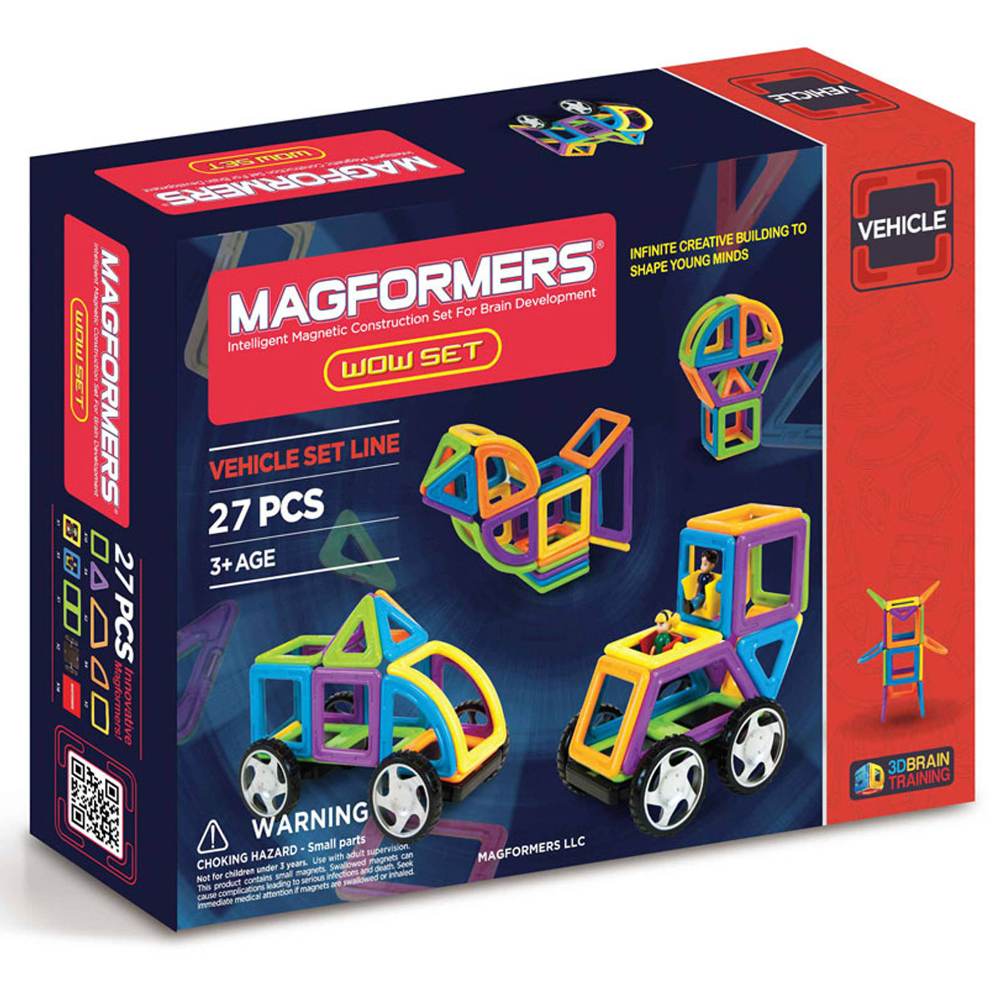 MagFORMERS WOW 27-Piece Magnetic Construction Set by Magformers