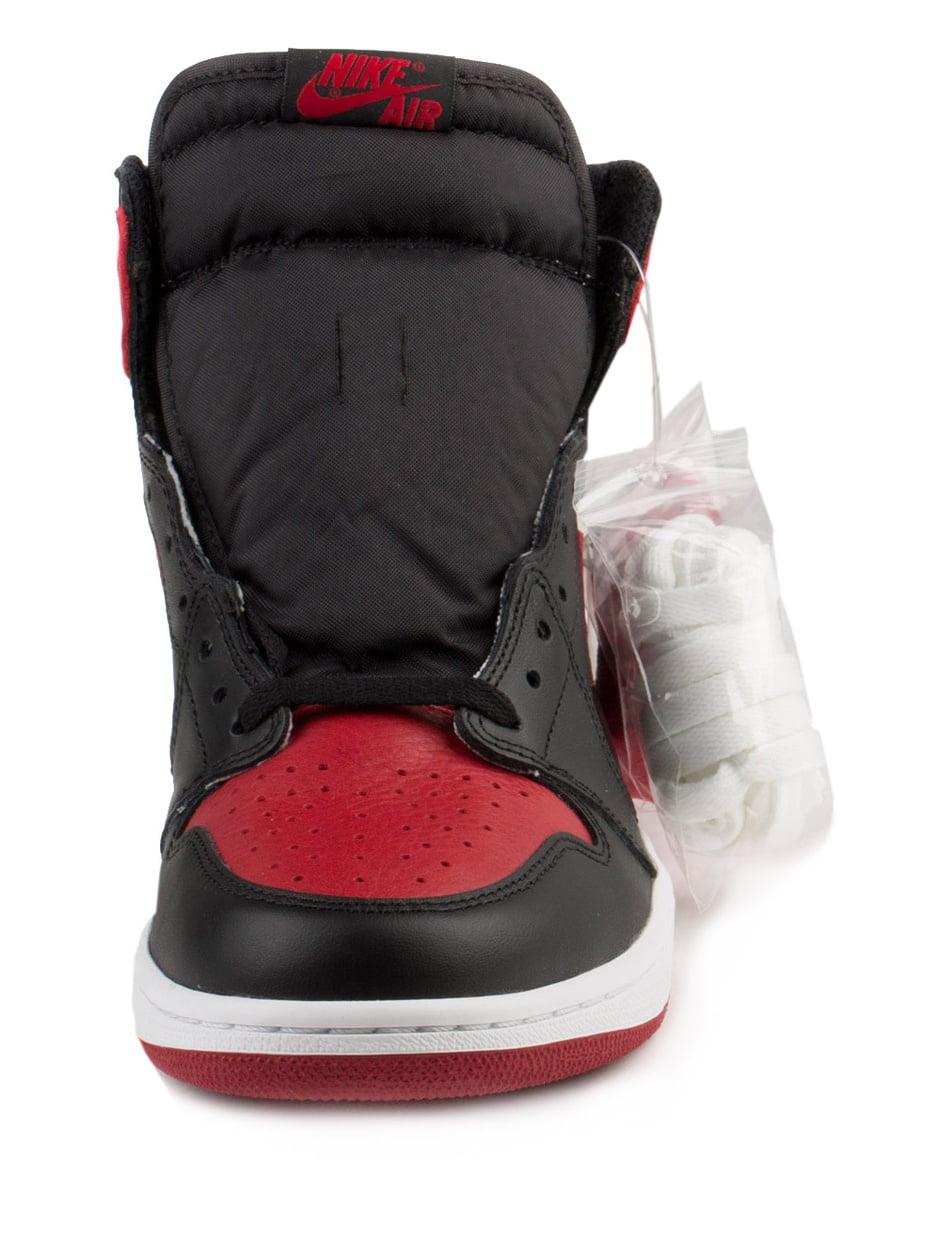 Nike Mens Air Jordan 1 Retro Blk/Vrsty High OG 2016 Banned Blk/Vrsty Retro Red-White 555088-001 b5c29c