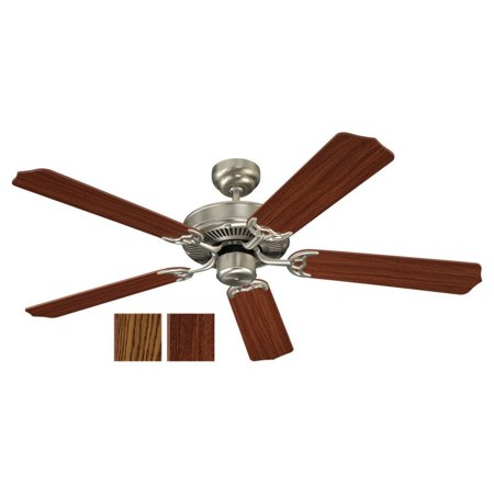 Sea Gull Lighting 15030 Quality Max 52 in. Ceiling Fan - Brushed Nickel / Mahogany Dark