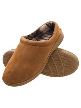 b2509096a532 Product Image Heat Edge Men s Memory Foam Suede Slip On Indoor Outdoor Clog  Slipper Shoe