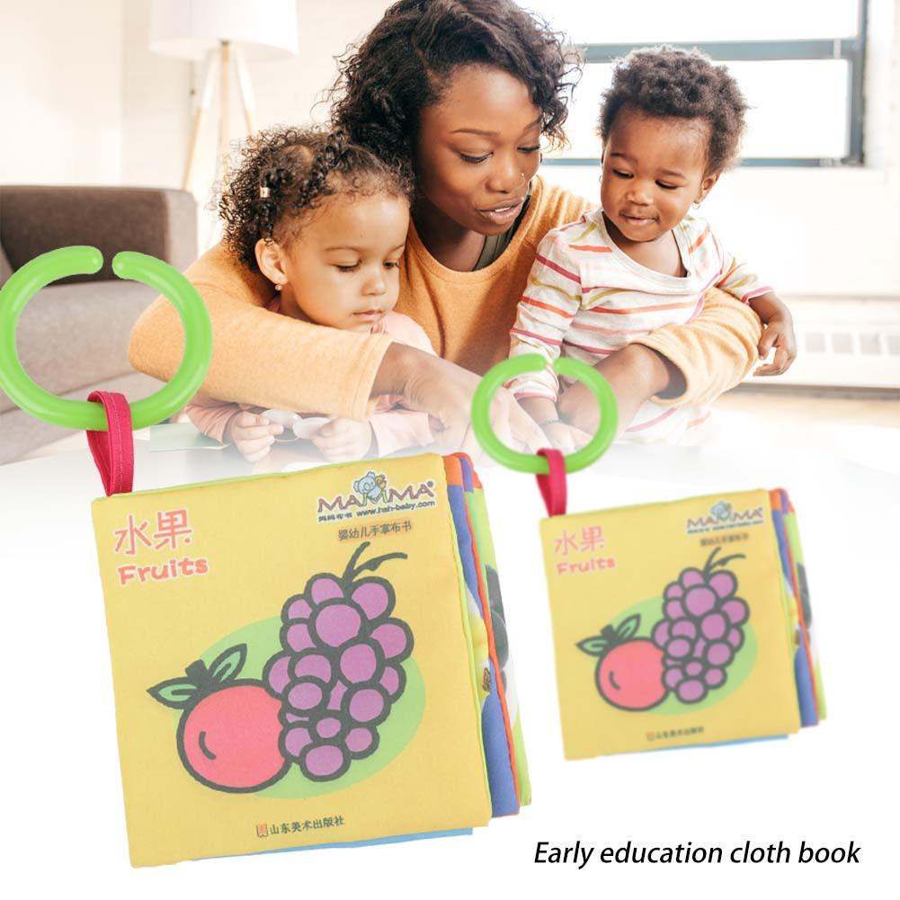 Portable Baby Child Cartoon Cloth Book Early Education Learning Books Teaching Props,Baby Cloth Book, Kids Cloth Book