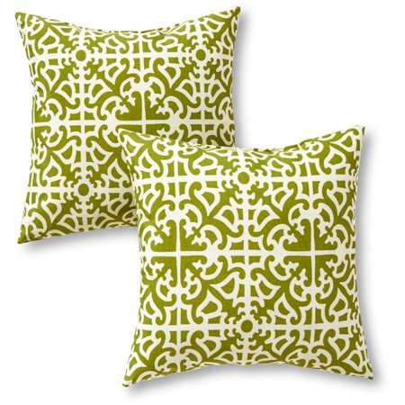 Greendale Home Fashions Outdoor Accent Pillows  Set Of 2  Grass
